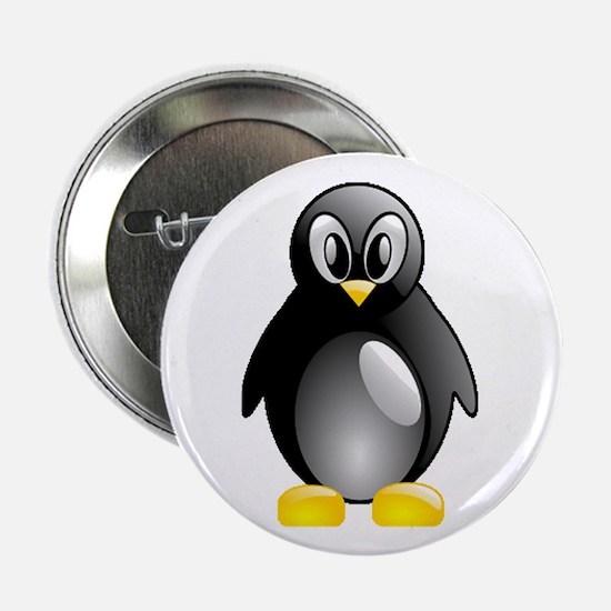 """Bright Penguin 2.25"""" Button"""