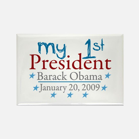 My 1st President (Obama Inauguration) Rectangle Ma