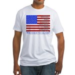flag w state abbrevs and names T-Shirt