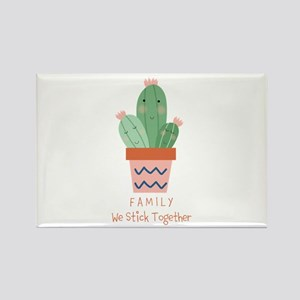 Cactus Family Custom Text Magnets