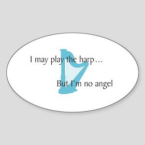 Musicolicious Harp Gift Oval Sticker