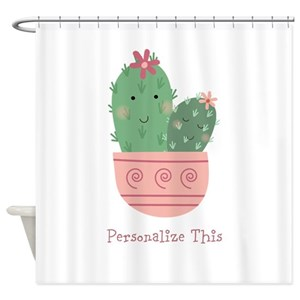 Cute Cactus Shower Curtains