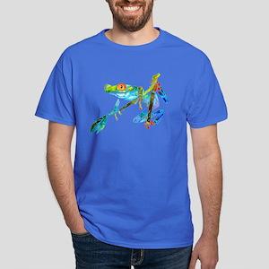 Crazy Tree Frogs Blue Dark T-Shirt