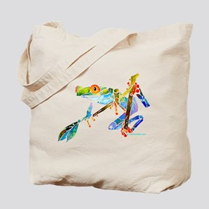 Crazy Tree Frogs Blue Tote Bag