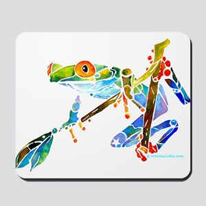 Crazy Tree Frogs Blue Mousepad