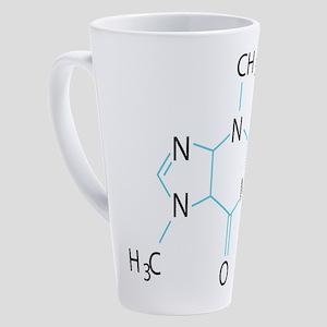 Caffeine Molecule 17 oz Latte Mug