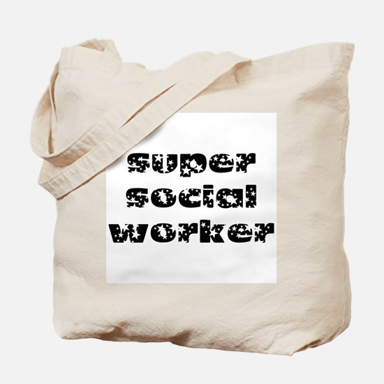 super social worker (black) Tote Bag