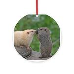 Groundhog Siblings Ornament (Round)