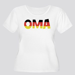 Oma Women's Plus Size Scoop Neck T-Shirt