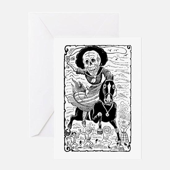 Calavera Revolucionaria Greeting Card