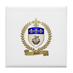 GIROIR Family Crest Tile Coaster
