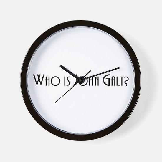 Who is John Galt? Atlas Shrugged Wall Clock