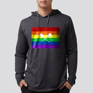 Paddles gay rainbow art ore Long Sleeve T-Shirt