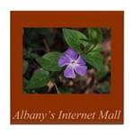 Albany's Internet Mall Christmas Tile Coaster