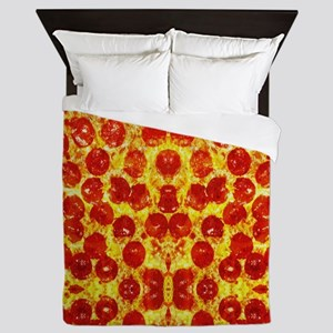 Pizza Design Queen Duvet