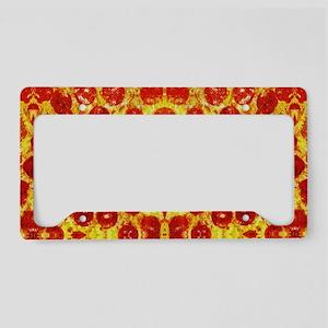 Pizza Design License Plate Holder
