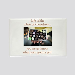 Life is like a box of chocola Rectangle Magnet