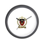 GRAVOIS Family Crest Wall Clock