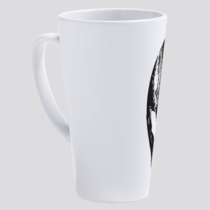 Alien Head (Grunge Texture) 17 oz Latte Mug