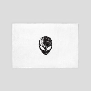 Alien Head (Grunge Texture) 4' x 6' Rug