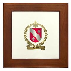 GREGOIRE Family Crest Framed Tile