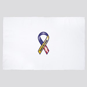 Support Our Troops - Ribbon 4' x 6' Rug