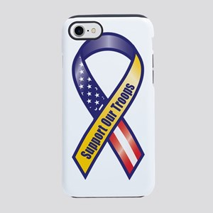 Support Our Troops - Ribbon iPhone 8/7 Tough Case