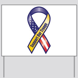Support Our Troops - Ribbon Yard Sign