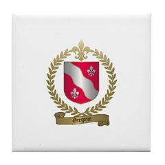 GREGOIRE Family Crest Tile Coaster