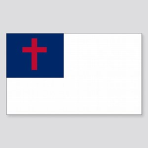 Christian Flag Sticker (Rectangle)