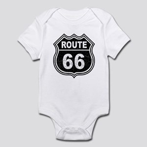 Rte 66 - blk Infant Bodysuit