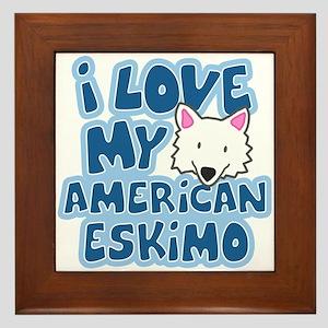 I Love my American Eskimo Framed Tile