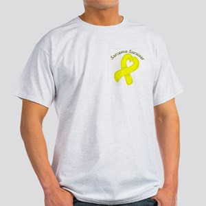 Sarcoma Heart Survivor Light T-Shirt