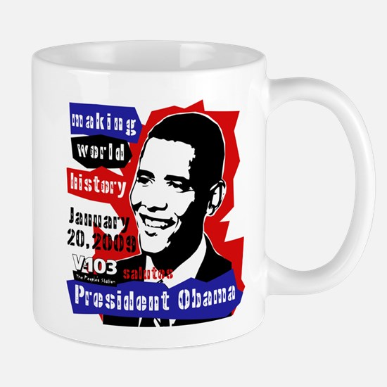 Obama Making World History Mug