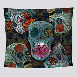 Sugar Skulls Design Wall Tapestry