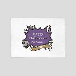Creepy Halloween Custom Text 5'x7'Area Rug