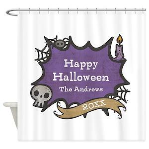 Purple Creepy Shower Curtains