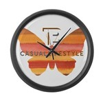 BT Butterfly Large Wall Clock