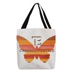 BT Butterfly Polyester Tote Bag