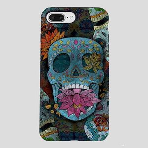 Sugar Skulls Design iPhone 8/7 Plus Tough Case