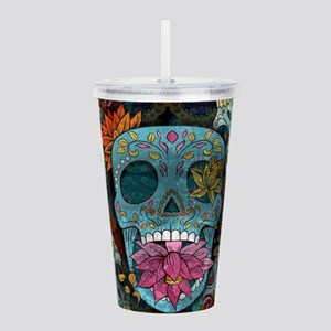 Sugar Skulls Design Acrylic Double-wall Tumbler
