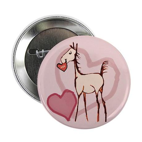 """Valentine Horse 2.25"""" Button (100 pack)"""
