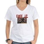 Free J.C. Women's V-Neck T-Shirt