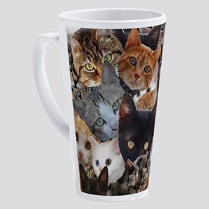 Kitty Collage 17 oz Latte Mug
