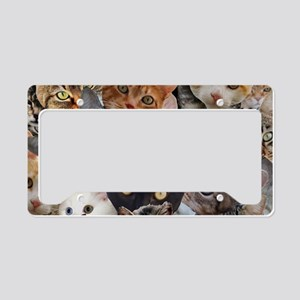 Kitty Collage License Plate Holder