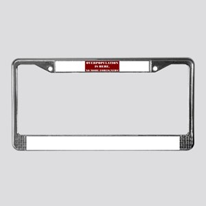 No More Foreigners License Plate Frame