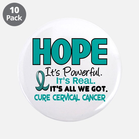 "HOPE Cervical Cancer 1 3.5"" Button (10 pack)"