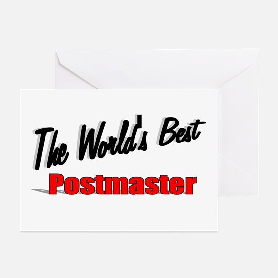 """""""The World's Best Postmaster"""" Greeting Cards (Pk o"""