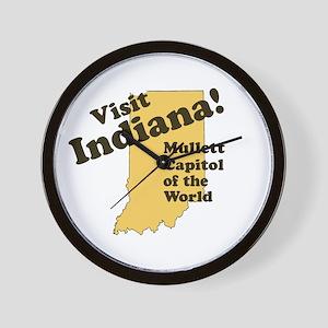 Visit Indiana, Mullet Capitol Wall Clock