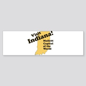 Visit Indiana, Mullet Capitol Bumper Sticker